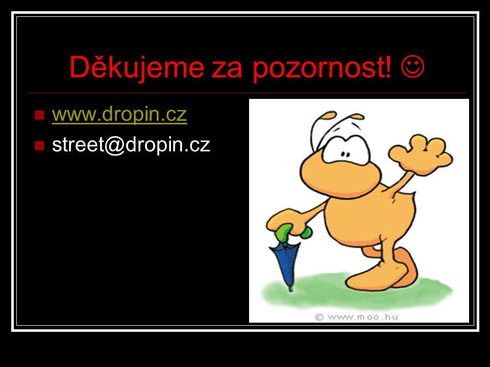 Děkujeme za pozornost! www.dropin.cz street@dropin.cz
