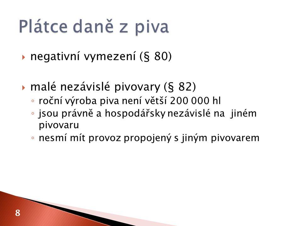 9 A.Minerální oleje B. LíhC. Pivo D. Víno a meziprodukty E.