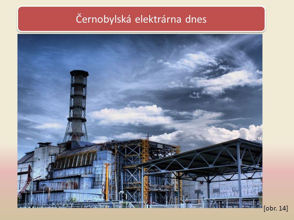 Černobylská elektrárna dnes [obr. 14]