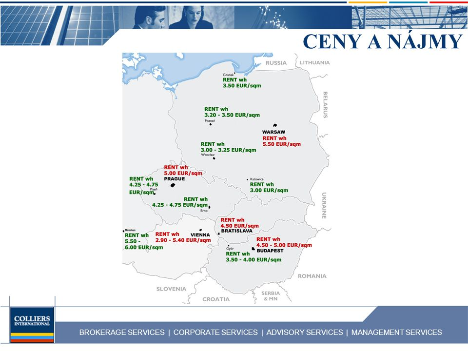 BROKERAGE SERVICES | CORPORATE SERVICES | ADVISORY SERVICES | MANAGEMENT SERVICES CENY A NÁJMY - pokrač.