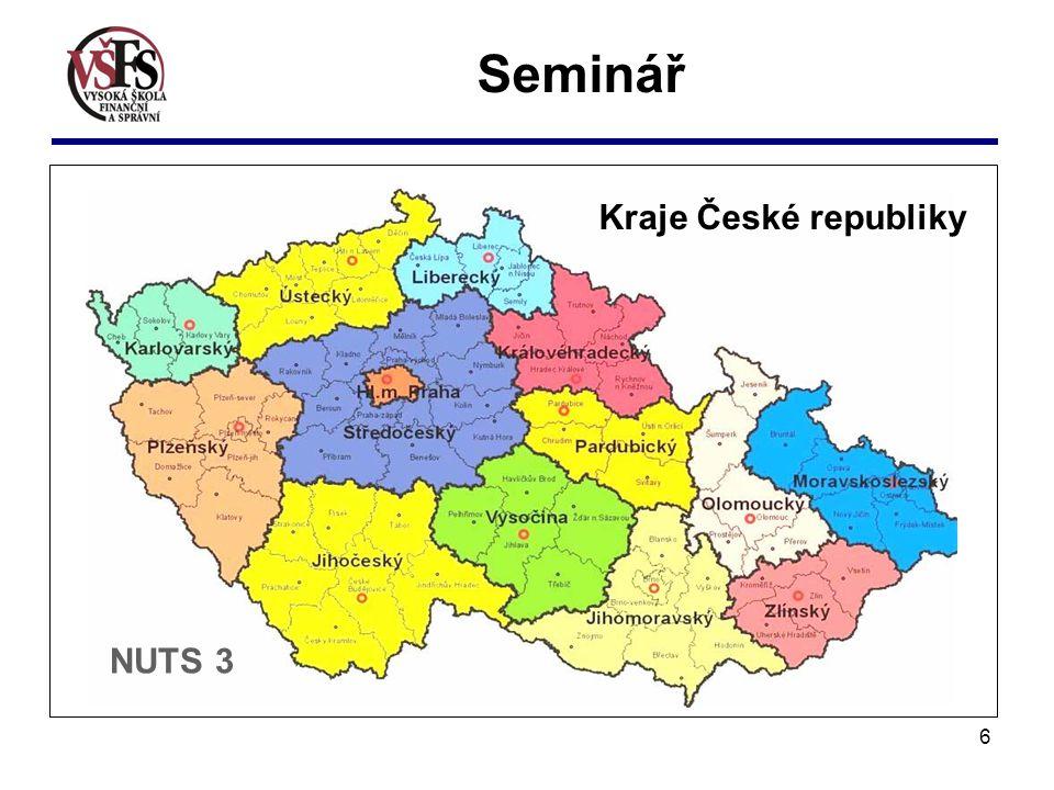 6 f Seminář NUTS 3 Kraje České republiky
