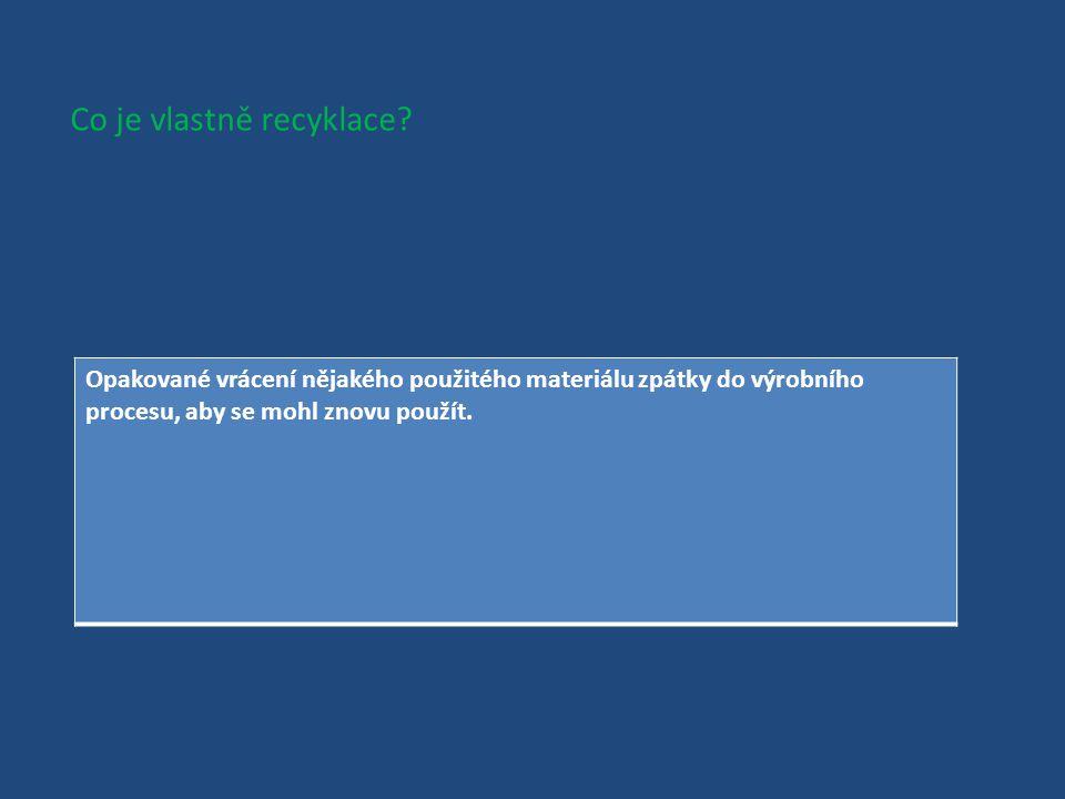 Co víš o recyklaci?