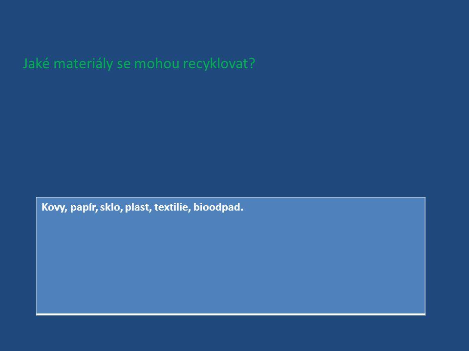 Co je vlastně recyklace? Opakované vrácení nějakého použitého materiálu zpátky do výrobního procesu, aby se mohl znovu použít.