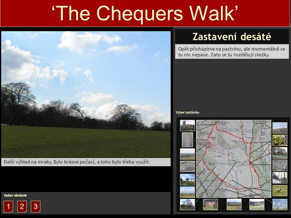 1 'The Chequers Walk' Vyber obrazek 1 Vyber obrázek 2 Opět přicházíme na pastvinu, ale momentálně se tu nic nepase.
