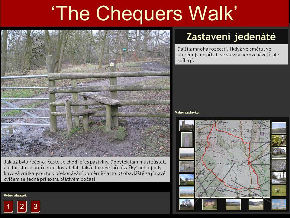'The Chequers Walk' Jak už bylo řečeno, často se chodí přes pastviny.