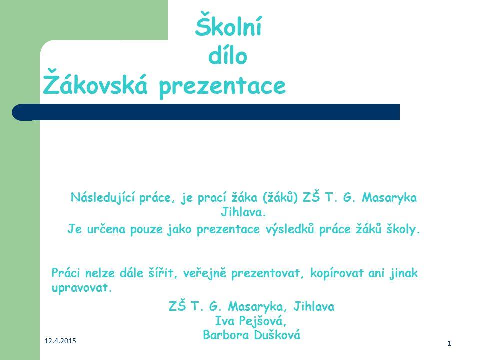 Naše škola: ZŠ T.G. Masaryka Žižkova 50, 586 01 Jihlava