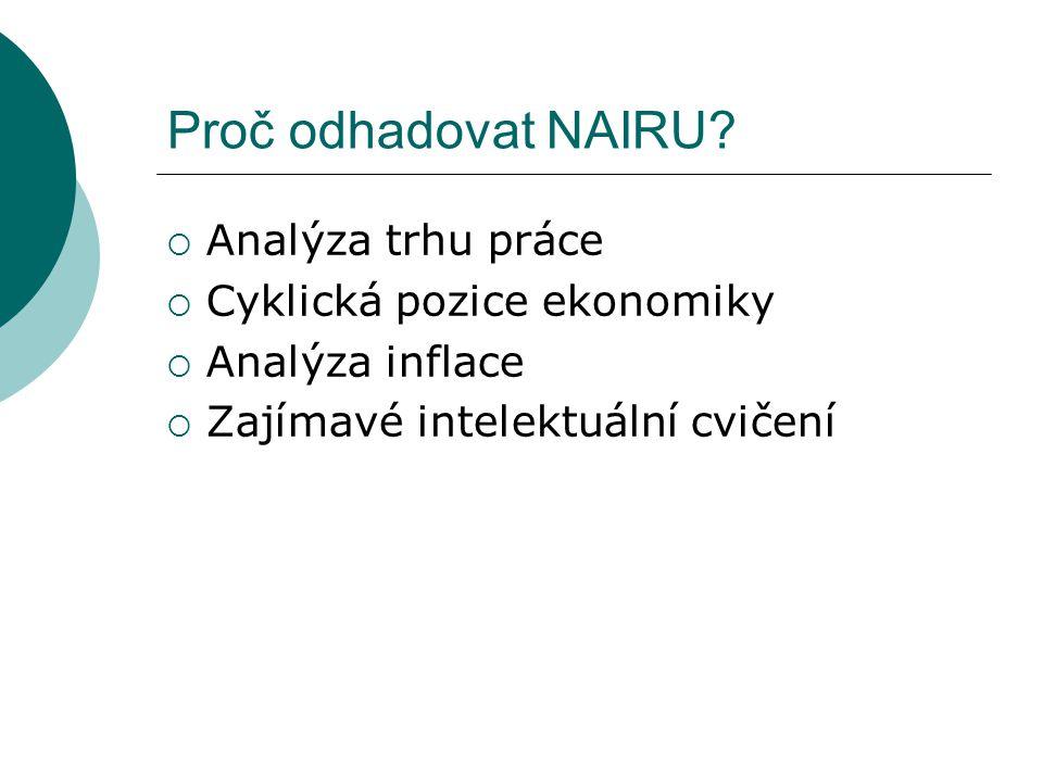 Proč odhadovat NAIRU.