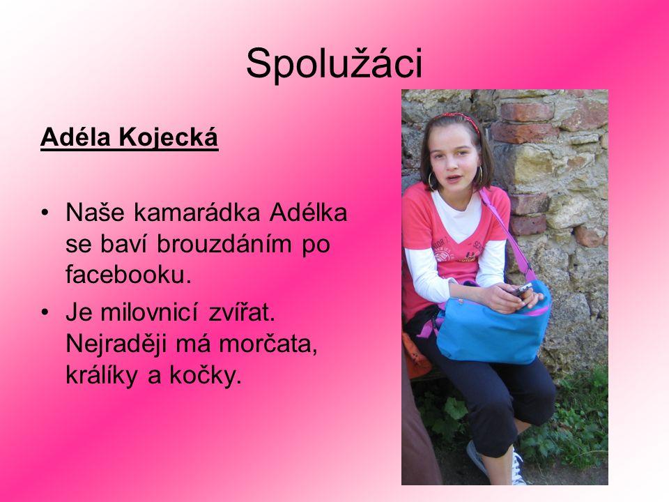Spolužáci Adéla Kojecká Naše kamarádka Adélka se baví brouzdáním po facebooku.
