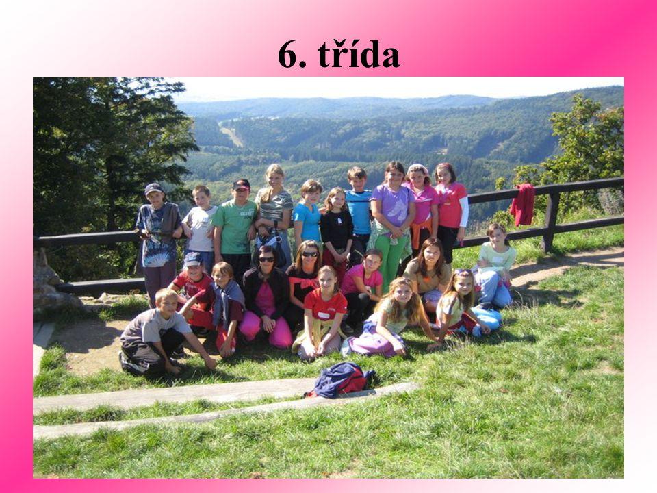 Děvčata 6.třídy Štěpka, Adka a Domča
