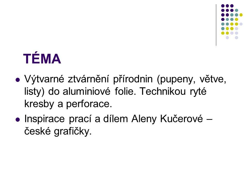 ÚVOD PERFORACE = PRODĚRAVĚNÍ ALENA KUČEROVÁ (nar.28.dubna 1935) ALENA KUČEROVÁ = česká grafička V roce 1963 poprvé zapojila do svých grafik nový technický prvek – perforovaný bod.