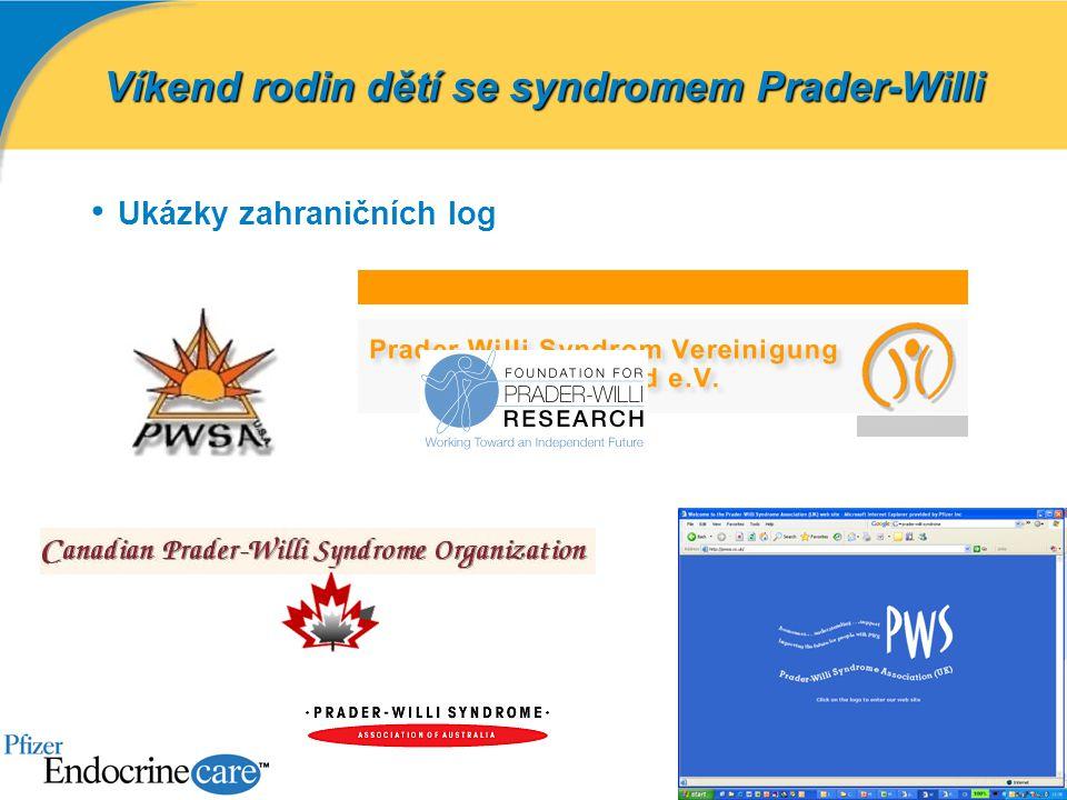 Ukázky zahraničních log Víkend rodin dětí se syndromem Prader-Willi