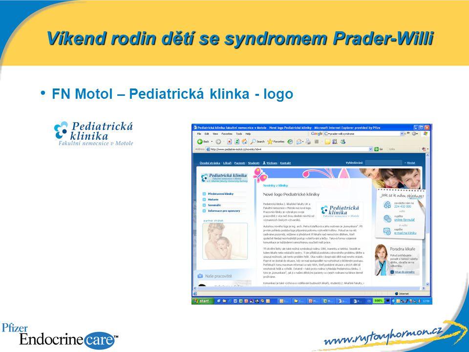 FN Motol – Pediatrická klinka - logo Víkend rodin dětí se syndromem Prader-Willi