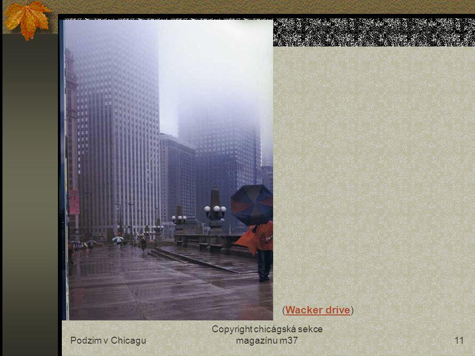 Podzim v Chicagu Copyright chicágská sekce magazínu m3710 …ranním mlékem… (Clark Street)