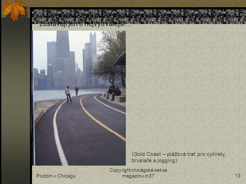 Podzim v Chicagu Copyright chicágská sekce magazínu m3712 …vítr však mraky rychle odfouká a obloha je stále jasná i když dny se zkracují… Broadway street