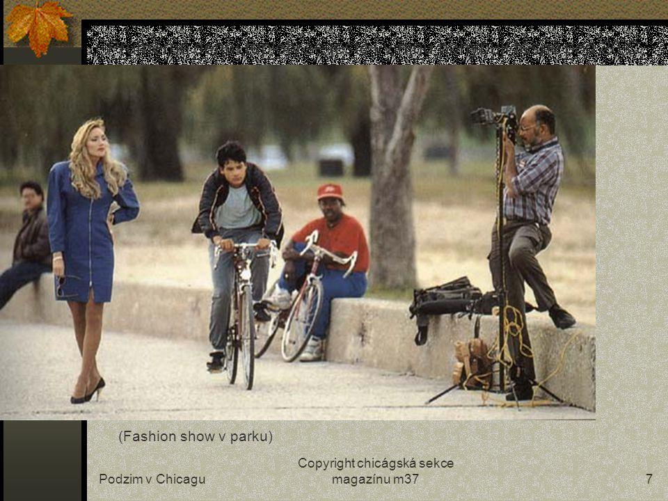 Podzim v Chicagu Copyright chicágská sekce magazínu m377 Průměrné denní teploty se ještě i v říjnu pohybují těsně pod 20 C… (Fashion show v parku)