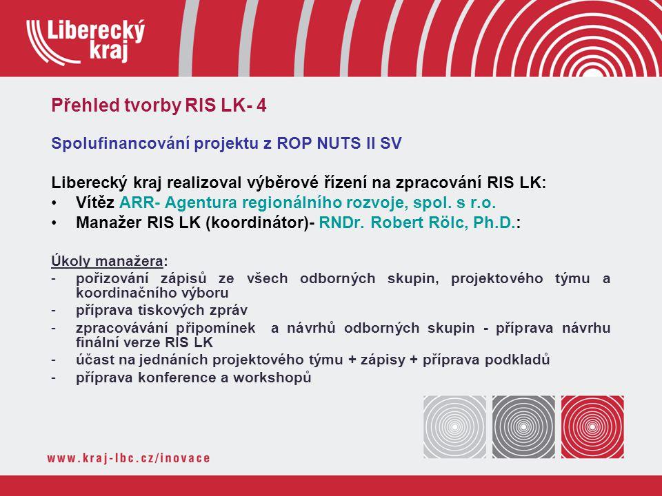 Spolufinancování projektu z ROP NUTS II SV Liberecký kraj realizoval výběrové řízení na zpracování RIS LK: Vítěz ARR- Agentura regionálního rozvoje, s