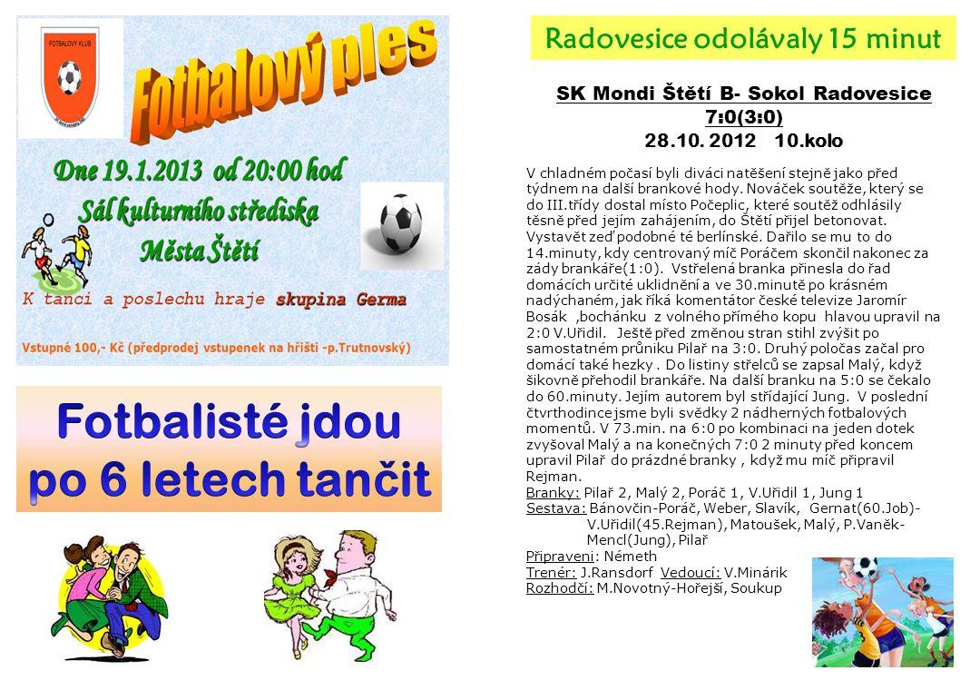 SK Mondi Štětí B- Sokol Radovesice 7:0(3:0) 28.10.