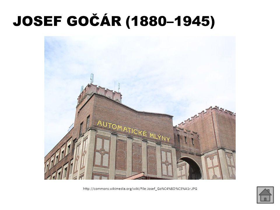 JOSEF GOČÁR (1880–1945) http://commons.wikimedia.org/wiki/File:Josef_Go%C4%8D%C3%A1r.JPG