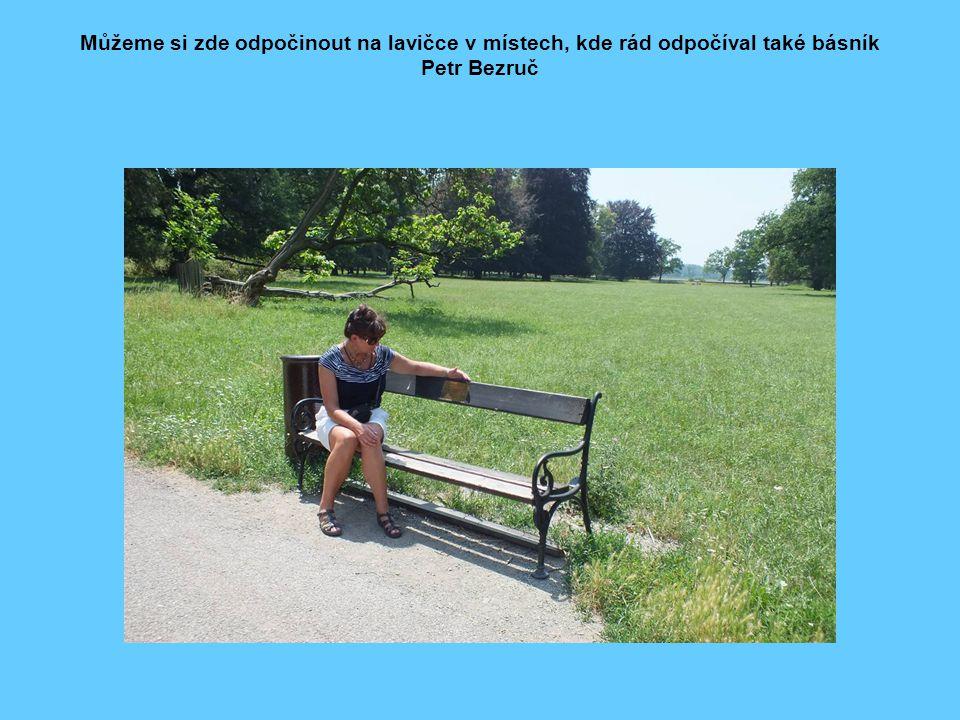 Můžeme si zde odpočinout na lavičce v místech, kde rád odpočíval také básník Petr Bezruč