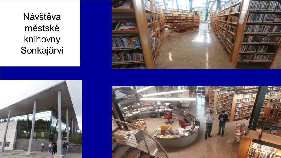 Návštěva městské knihovny Sonkajärvi