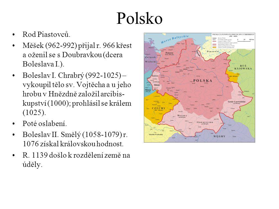 Polsko Rod Piastovců.Měšek (962-992) přijal r.