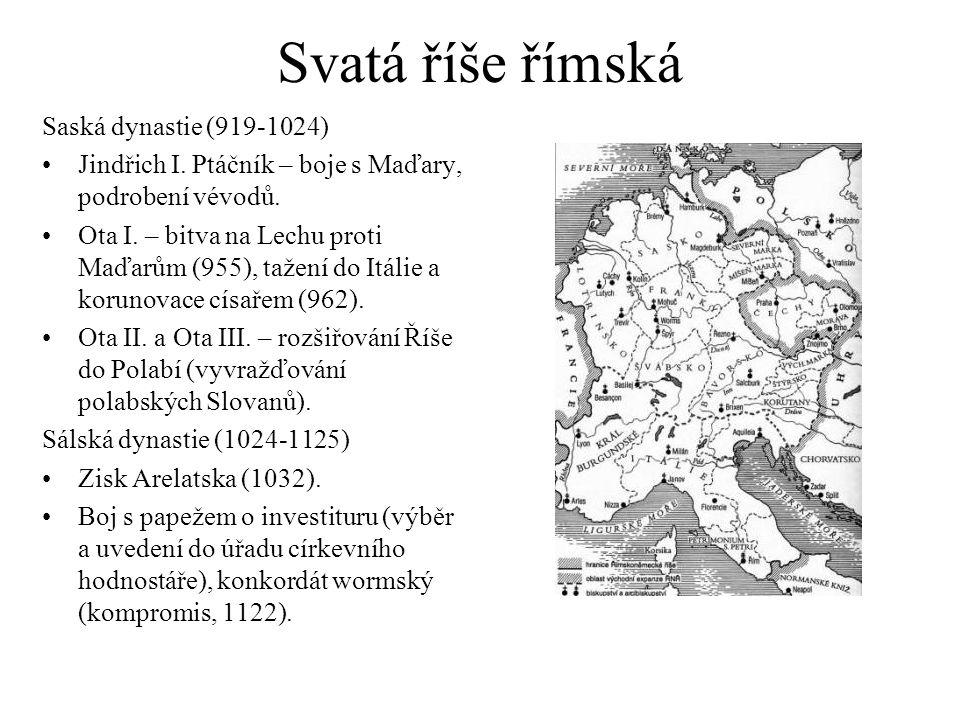 Svatá říše římská Saská dynastie (919-1024) Jindřich I.