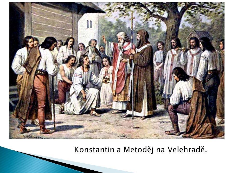 Konstantin a Metoděj na Velehradě.