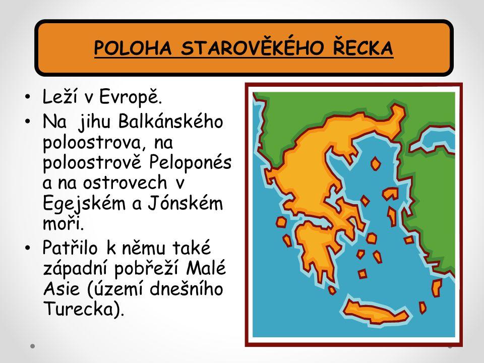 Leží v Evropě. Na jihu Balkánského poloostrova, na poloostrově Peloponés a na ostrovech v Egejském a Jónském moři. Patřilo k němu také západní pobřeží