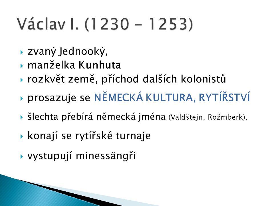 Mongolové = Tataři Sjednoceni Čingischánem Jeho vnuk chán Batú postoupil až do Evropy: Bitva u Lehnice 1241- slezské vojsko poraženo (Václav I.