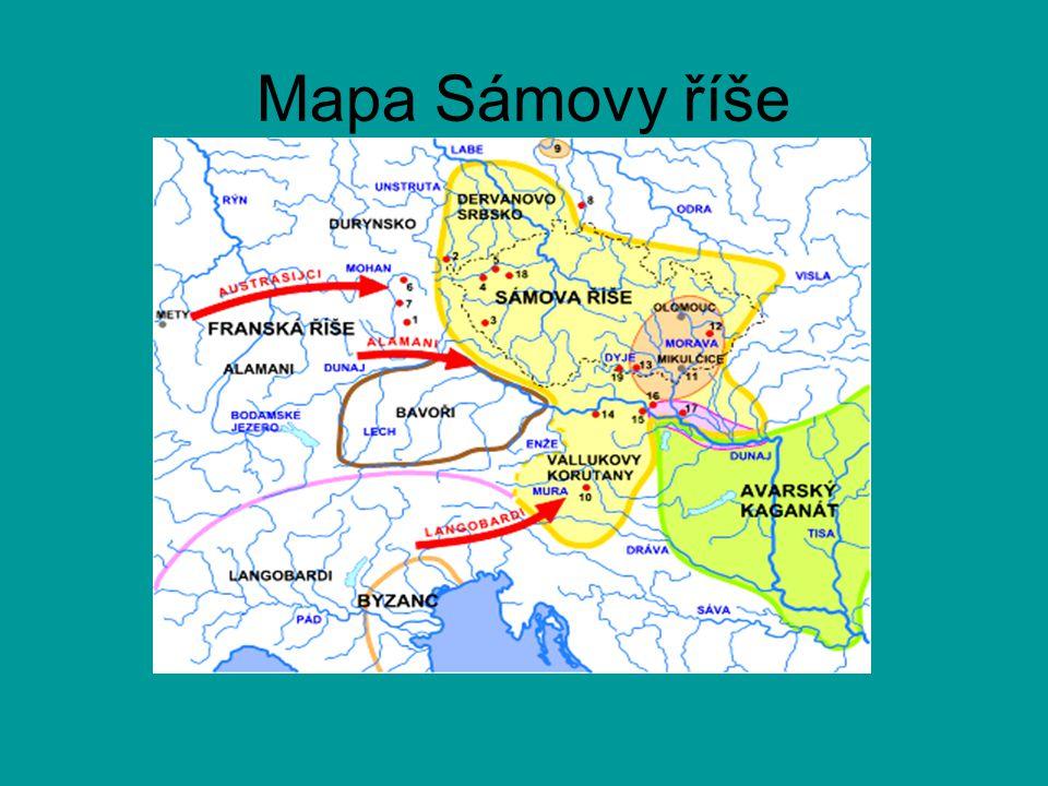 Mapa Sámovy říše