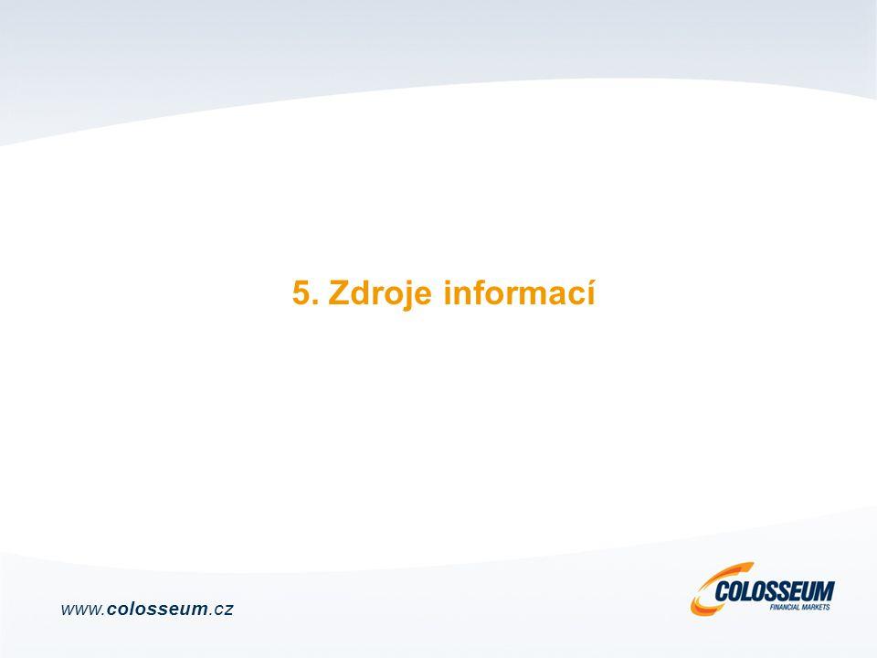 5. Zdroje informací www.colosseum.cz