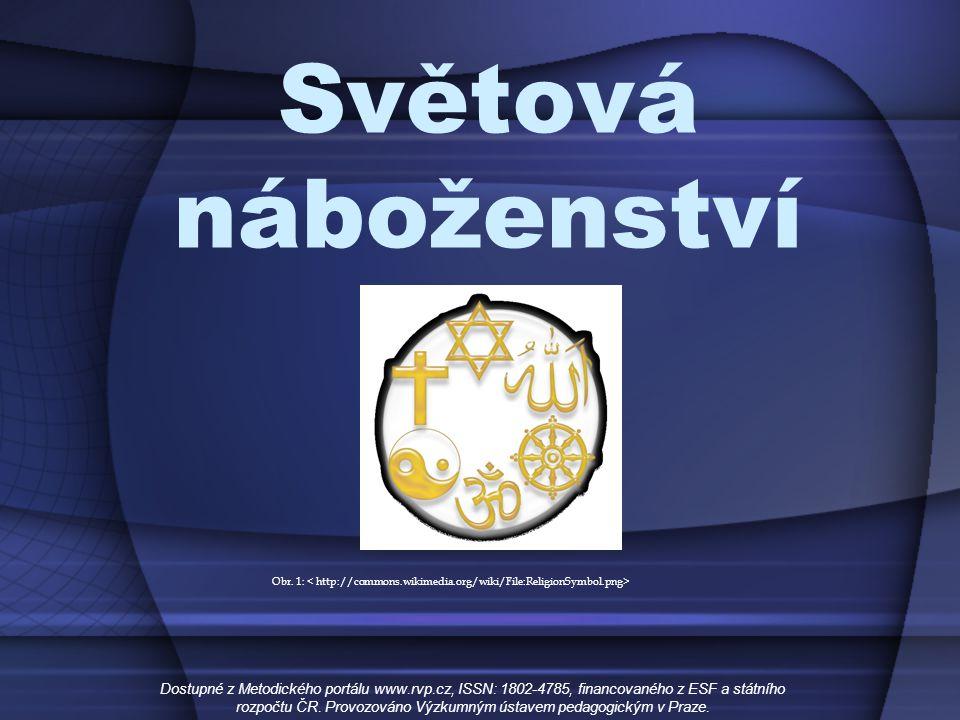 Světová náboženství Kontinentální rozšíření Dostupné z Metodického portálu www.rvp.cz, ISSN: 1802-4785, financovaného z ESF a státního rozpočtu ČR.