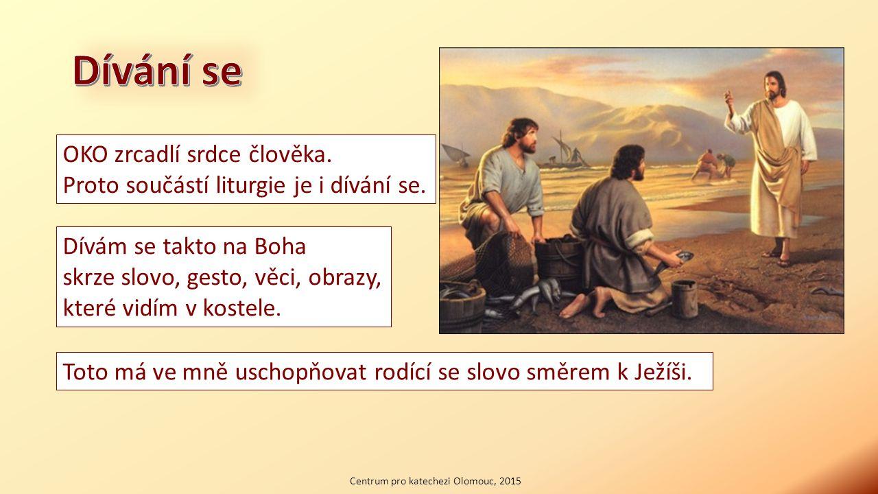 Centrum pro katechezi Olomouc, 2015 Člověk skrze pohled sděluje svůj vztah a přijímá informace o postoji lidí kolem.