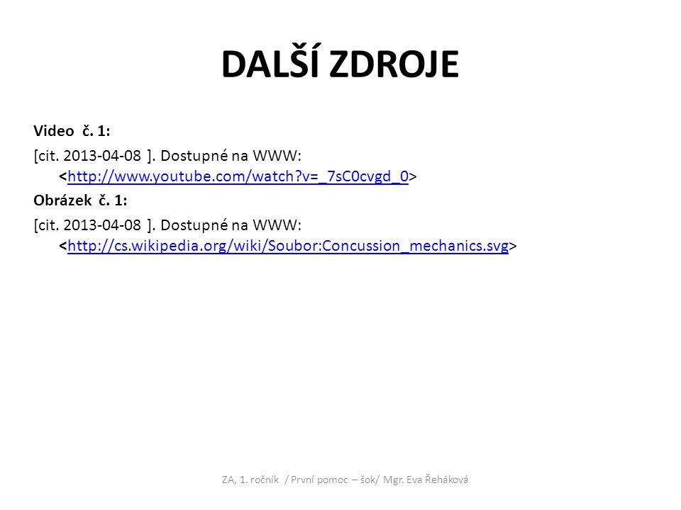 DALŠÍ ZDROJE Video č. 1: [cit. 2013-04-08 ]. Dostupné na WWW: http://www.youtube.com/watch?v=_7sC0cvgd_0 Obrázek č. 1: [cit. 2013-04-08 ]. Dostupné na