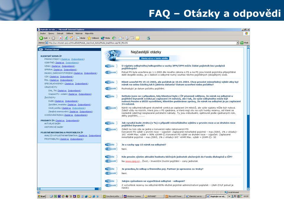FAQ – Otázky a odpovědi