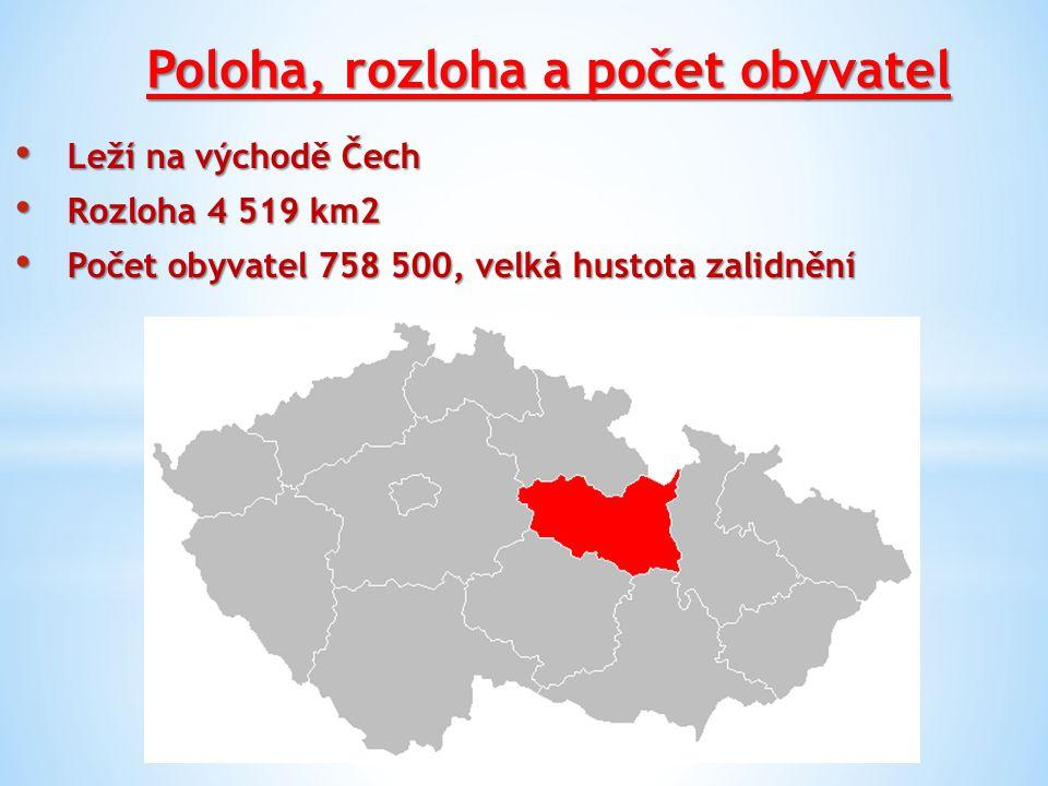 Poloha, rozloha a počet obyvatel Leží na východě Čech Leží na východě Čech Rozloha 4 519 km2 Rozloha 4 519 km2 Počet obyvatel 758 500, velká hustota z