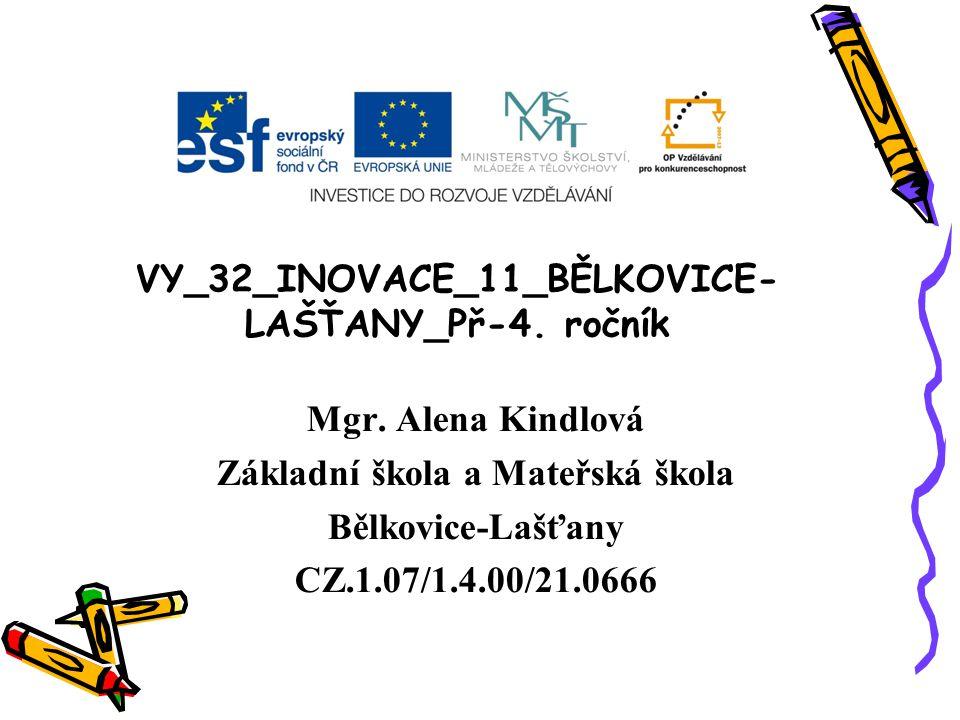 VY_32_INOVACE_11_BĚLKOVICE- LAŠŤANY_Př-4.ročník Mgr.
