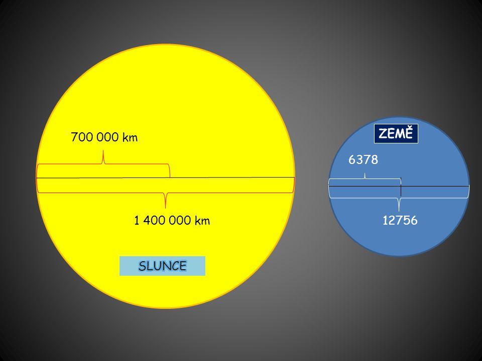 1 400 000 km 700 000 km 6378 12756
