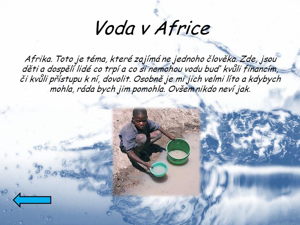 Spotřeba vody Ano, ne každý si vody cenní.