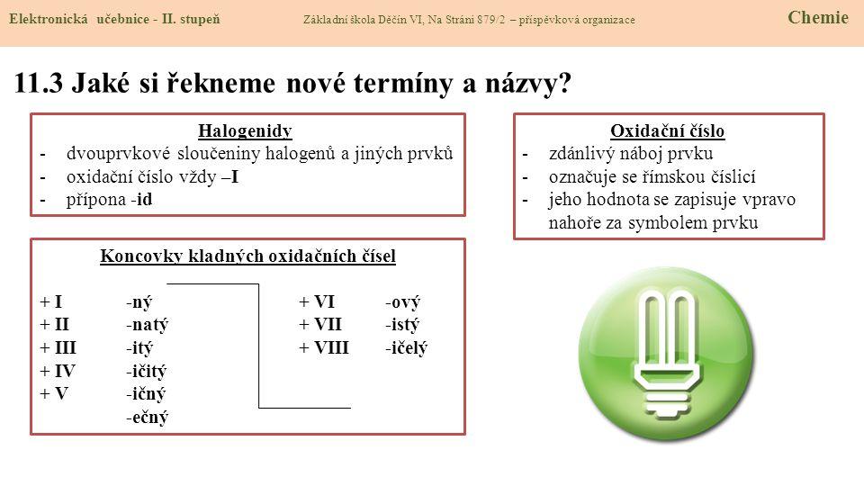 11.3 Jaké si řekneme nové termíny a názvy.Elektronická učebnice - II.