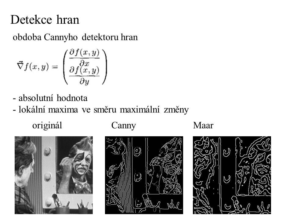 - multiscale verze - vyhlazování low-pass filtrem - nejčastěji Gauss -  (x,y) Detekce hran