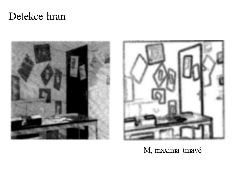 Detekce hran - analýza - multiscale informace o hranách, z jednotlivých úrovní - analýza vztahů mezi jednotlivými úrovněmi - mizení koeficientů do hloubky závisí na lokální hladkosti signálu
