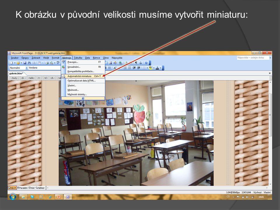 A můžeme vkládat fotografie (to už známe z vkládání titulního obrázku – TVORBA WEBU 8).