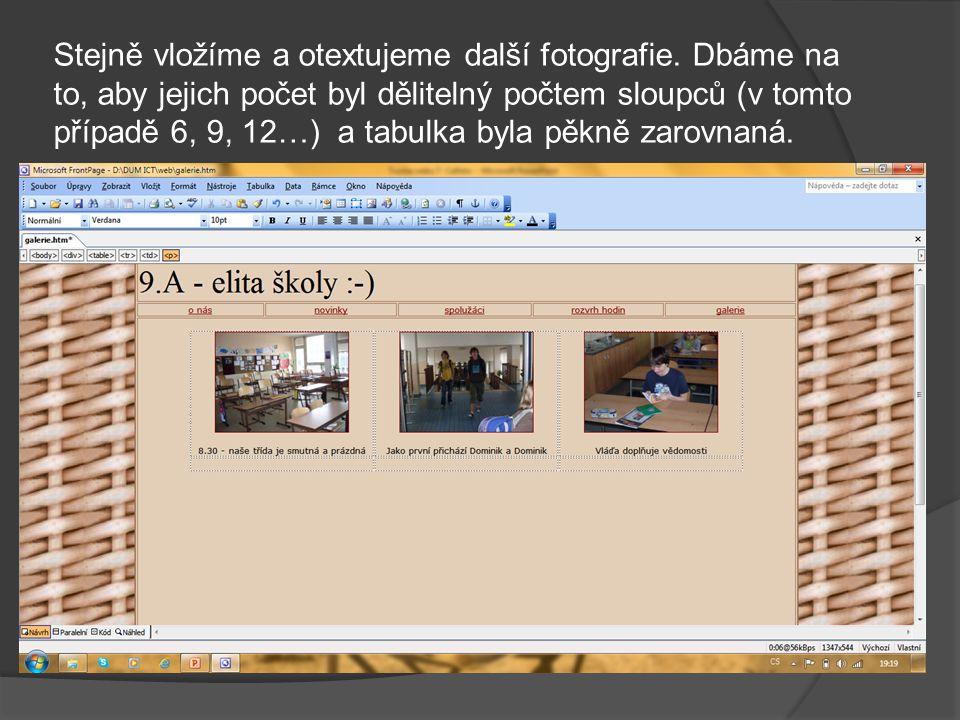 Pro návštěvníka stránky je ale asi jednodušší přečíst si text pod obrázkem: