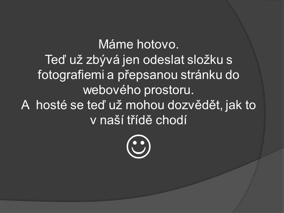 - samozřejmě uložíme do stejné složky jako máme fotografie – tedy WEB – GALERIE_SOUBORY