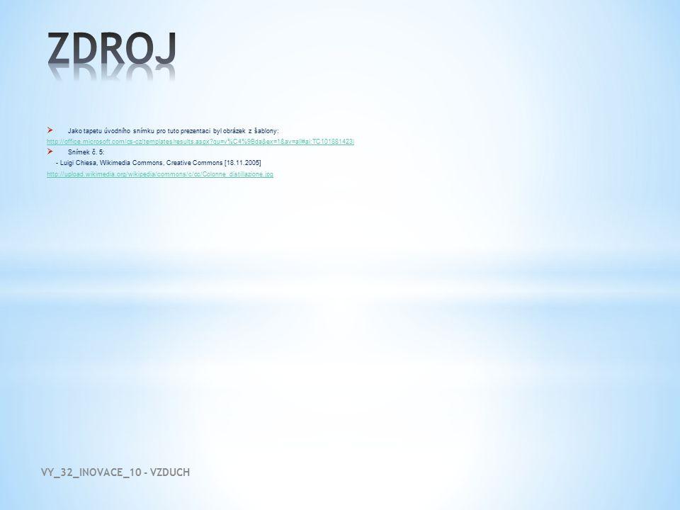  Jako tapetu úvodního snímku pro tuto prezentaci byl obrázek z šablony: http://office.microsoft.com/cs-cz/templates/results.aspx?qu=v%C4%9Bda&ex=1&av