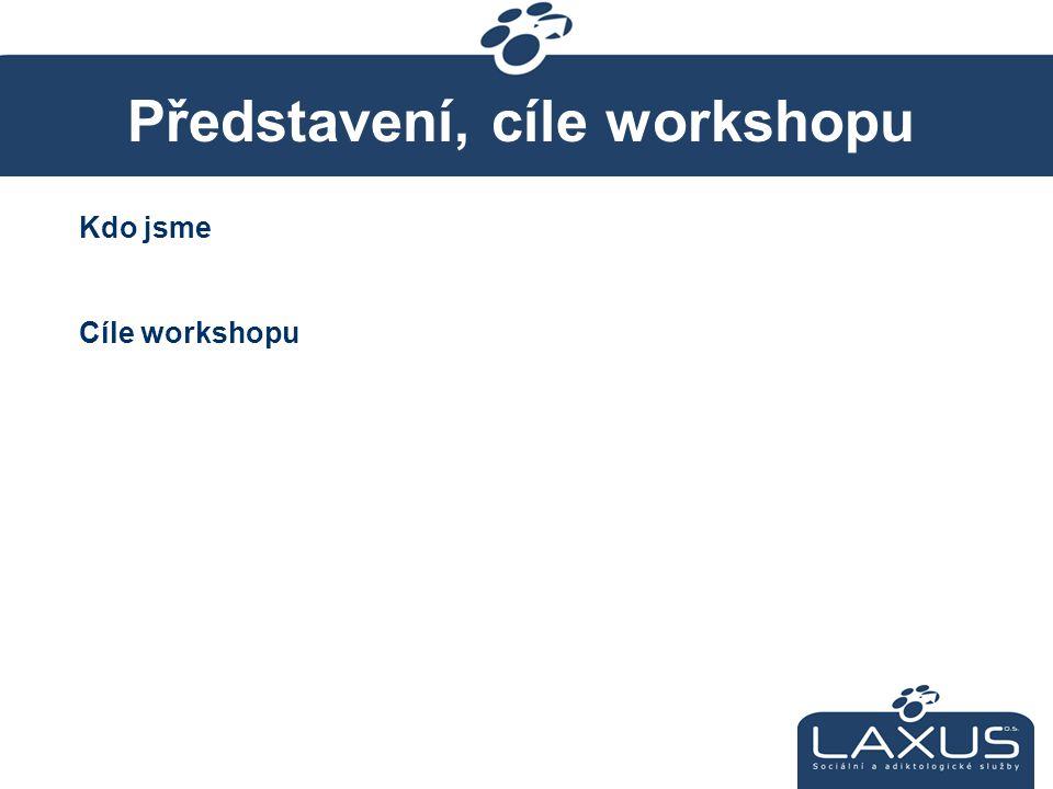 Představení, cíle workshopu Kdo jsme Cíle workshopu