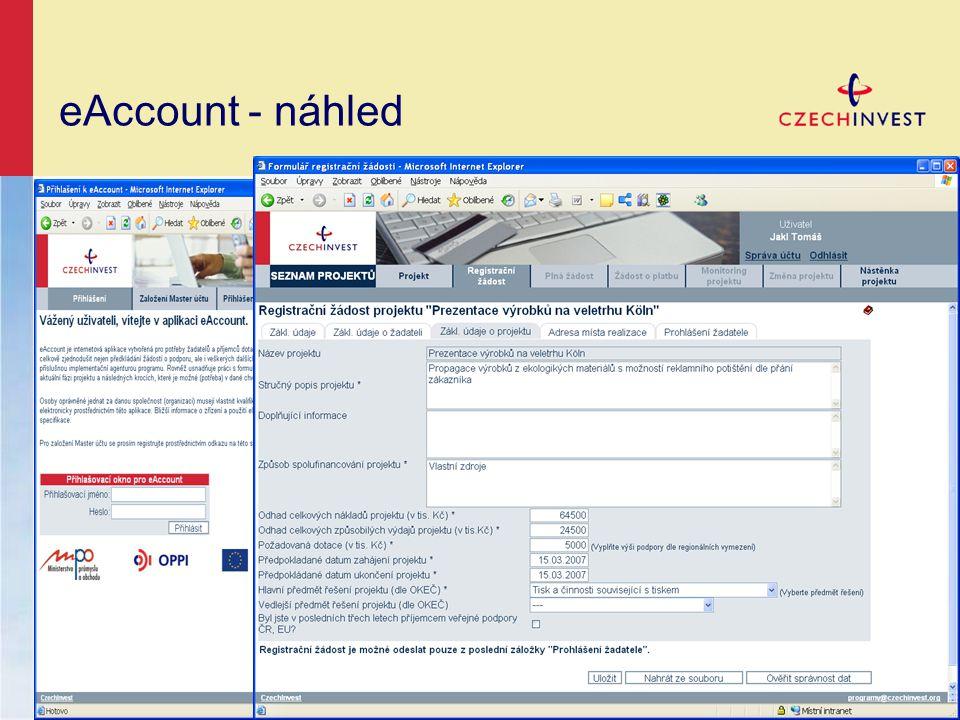 eAccount - náhled