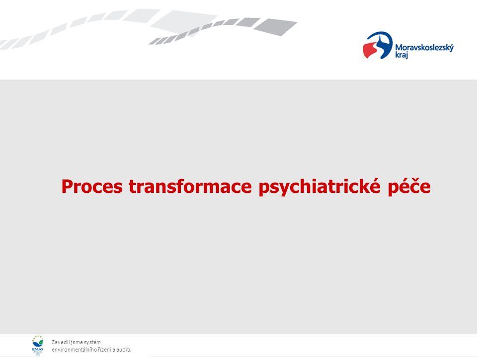 Zavedli jsme systém environmentálního řízení a auditu Proces transformace psychiatrické péče
