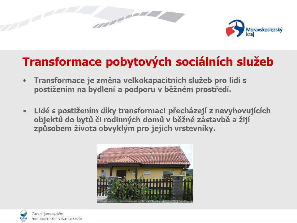 Zavedli jsme systém environmentálního řízení a auditu Principy transformace Změny v přístupu k lidem s postižením.